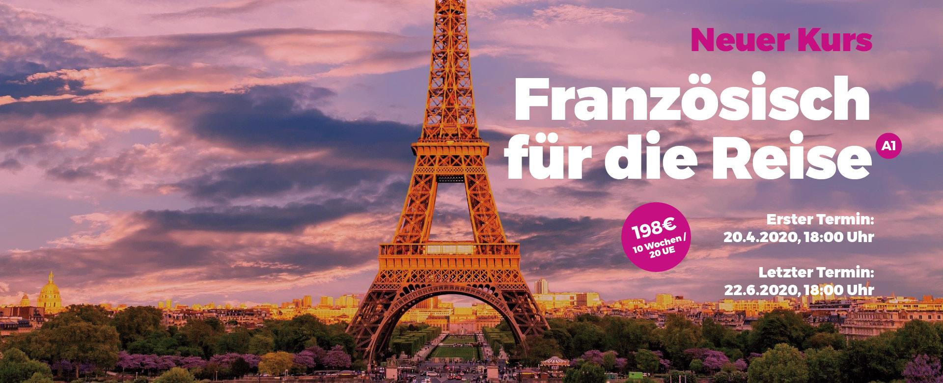 Neuer Kurs: Französisch für die Reise (A1)