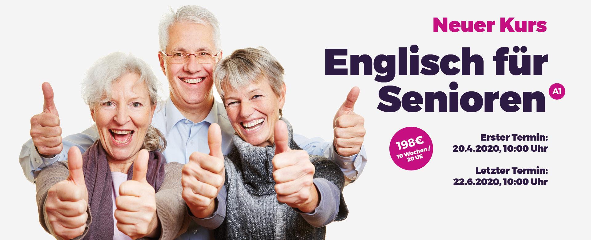 Neuer Kurs: Seniorenenglisch (A1)
